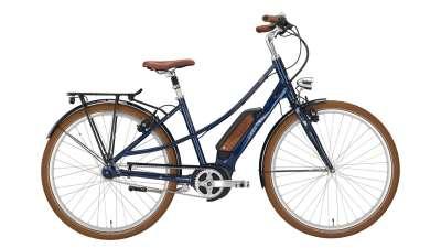 """EXCELSIOR Elektro-Cityrad """"Vintage E"""" Mod. 21, Mixte, 28"""", navy blue, 7-Gang SHIMANO """"Nexus"""" LL, 48c"""