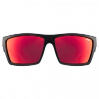 Vorschau: uvex lgl 29 black mat / mirror red