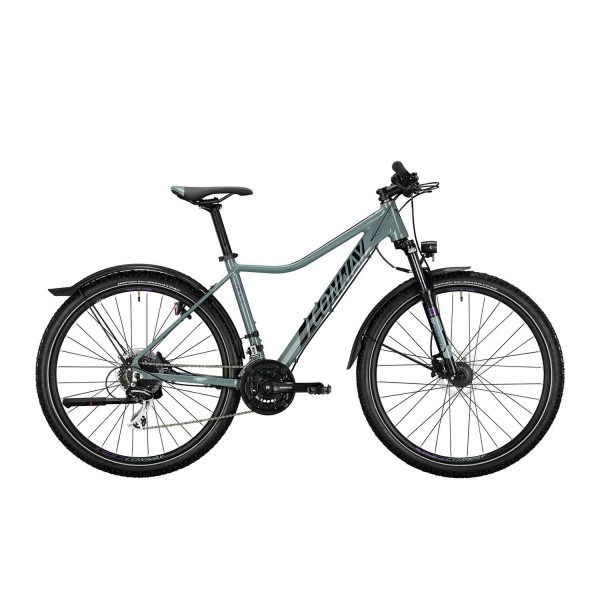 """CONWAY MTB StVZO """"MCL 4"""" Mod. 21, Lady, 27,5"""", grey / berry, 24-Gang SHIMANO """"Acera"""", 41cm"""