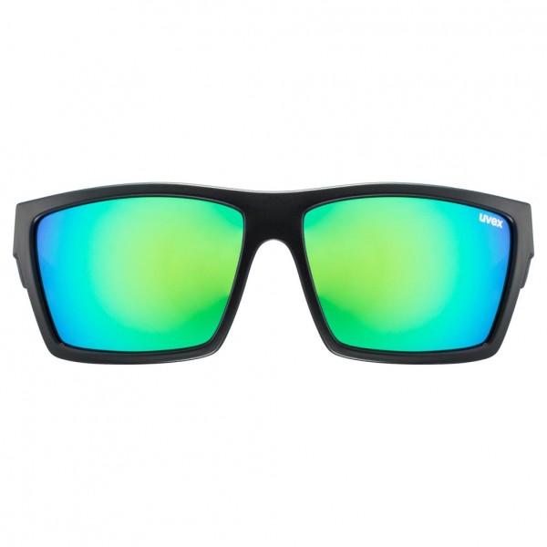 uvex lgl 29 black mat / mirror green