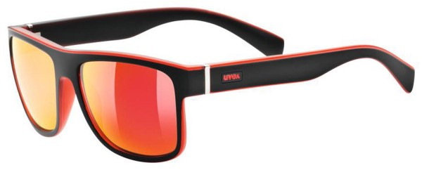 uvex lgl 21 black mat red / mirror red