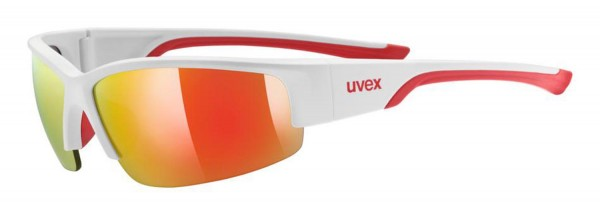 uvex sportstyle 215 white m.red/ mir.red