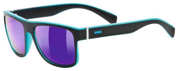 uvex lgl 21 black mat blue / mirror blue