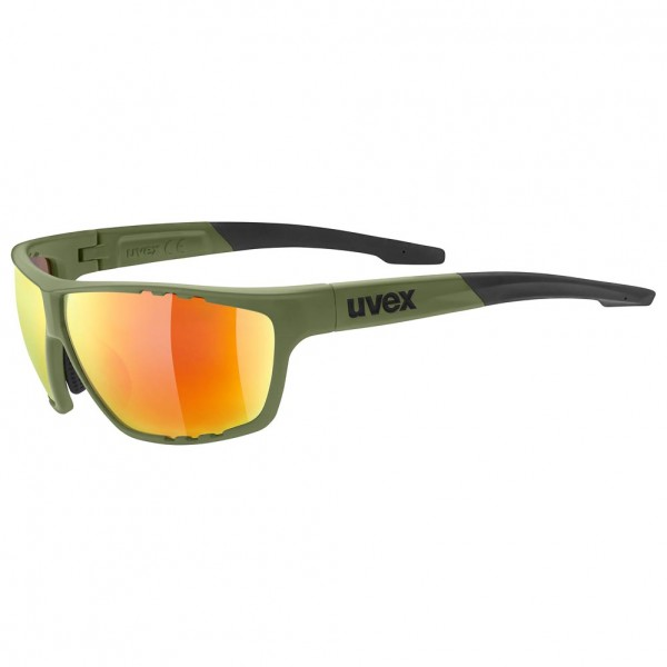 uvex sportstyle 706 olive gre.m./mir.red