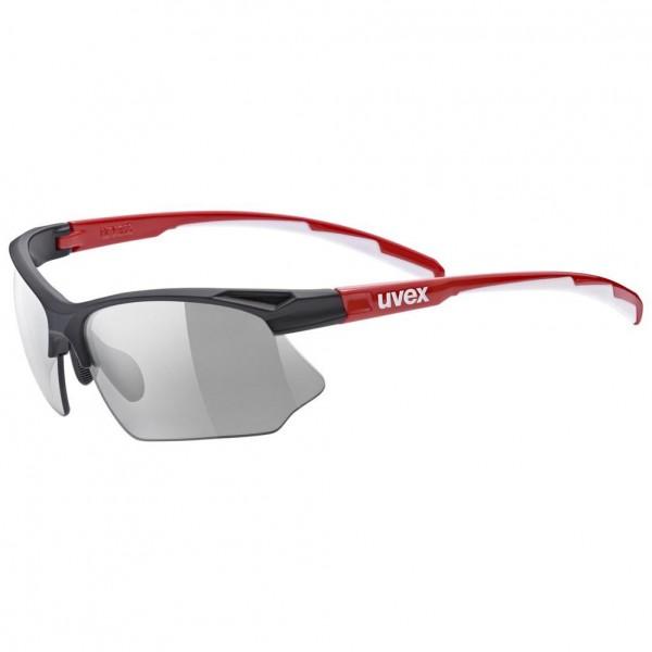 uvex sportstyle 802 v blk red whi/smoke